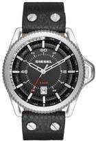 Diesel Rollcage Leather Strap Watch, 46mm