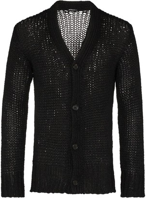 Ann Demeulemeester Knitted Wool Cardigan