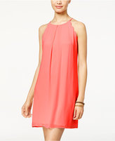 Amy Byer Juniors' Scalloped Halter Dress