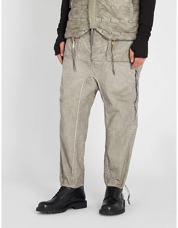 Boris Bidjan Saberi Coated regular-fit cotton trousers