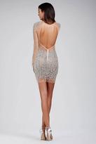 Jovani 29300 Crystal Embellished Illusion Bateau Dress