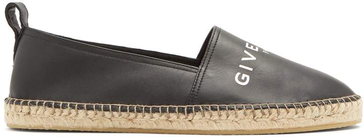 Givenchy Logo-front leather espadrilles