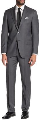 Hart Schaffner Marx Stripe Print New York Fit 2-Piece Suit