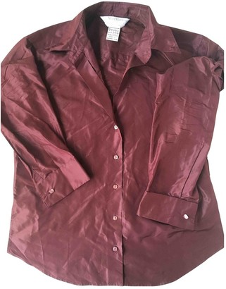 Max Mara Burgundy Silk Top for Women
