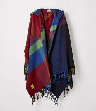Vivienne Westwood Check Poncho Navy Blue