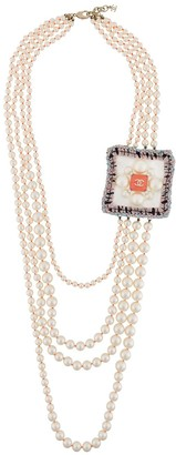 Chanel Pre Owned 2014 Four-Strand Faux-Pearl Necklace