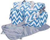 Trend Lab Blue & White Chevron Deluxe Duffel Diaper Bag