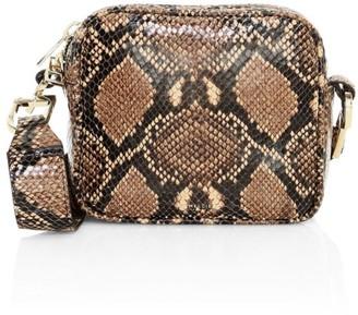 DeMellier Athens Snakeskin-Embossed Leather Crossbody Bag