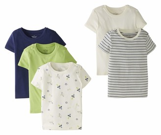 Moon and Back by Hanna Andersson Baby Little Kids 5 Pack Crew Neck Tee