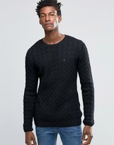 Tommy Hilfiger Sweater With Cable Knit In Black