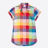 J.Crew Factory Mixed-gingham shirt