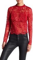 NBD Deborah Long Sleeve Lace Top