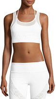 Alo Yoga Glare Layered Sports Bra, White
