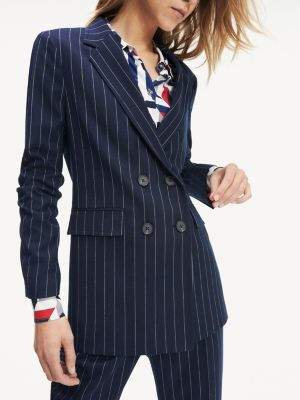 Tommy Hilfiger Double Breasted Pinstripe Blazer