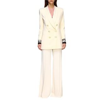 Elisabetta Franchi Celyn B. Elisabetta Franchi Jacket Elisabetta Franchi Double-breasted Jacket With Printed Cuffs