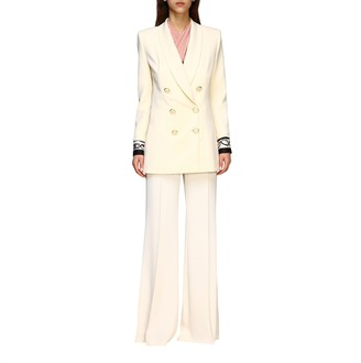 Elisabetta Franchi Jacket Double-breasted Jacket With Printed Cuffs