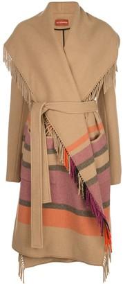Altuzarra Cody Blanket Coat with Tassels