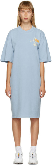 Brain Dead Blue The North Face Edition Ringer T-Shirt Dress