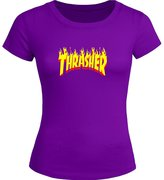 THE THRASHER Printed Tops T shirts THE THRASHER Printed For Ladies Womens T-shirt Tee Tops