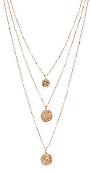 Aqua Three-Layer Coin Pendant Necklace, 24 - 100% Exclusive