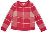 Design History Girls Girl's Plaid Sweater, Size 2-6X