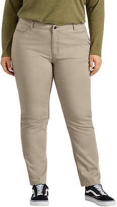 Dickies Perfect Shape Skinny Twill 4-Pocket Womens Mid Rise Slim Pant-Plus