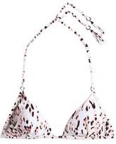 Heidi Klum Swim Fringed Leopard-Print Triangle Bikini Top