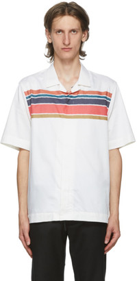 Paul Smith White Striped Short Sleeve Shirt