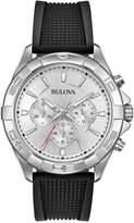 Bulova Men's Black Silicone Band Chronograph Watch