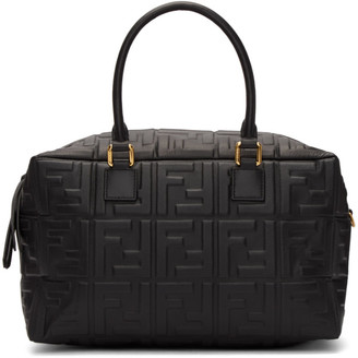 Fendi Black Small Forever Boston Bag