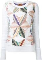 Missoni patchwork knit jumper - women - Cotton/Nylon/Polyester/Wool - 40