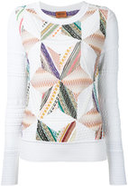 Missoni patchwork knit jumper - women - Cotton/Nylon/Polyester/Wool - 44