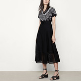 Maje Honeycomb knit long skirt