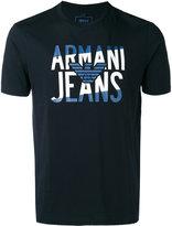 Armani Jeans logo print T-shirt - men - Cotton - XL