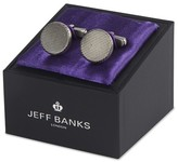 Jeff Banks Round Brushed Cufflink