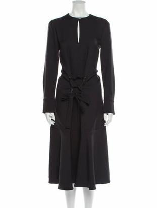 Tibi Crew Neck Long Dress w/ Tags Black