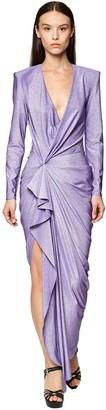 Redemption Lurex Stretch Jersey Long Dress