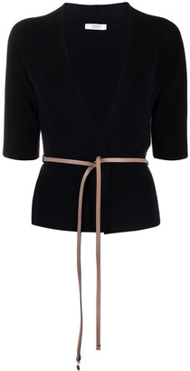 Peserico Belted Wrap Cotton Cardigan