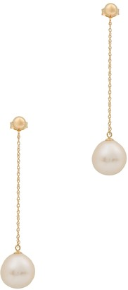 Anissa Kermiche Girl With A Pearl 14kt gold drop earrings