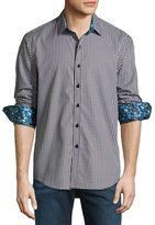 Robert Graham Sputnik 3D-Check Jacquard Sport Shirt