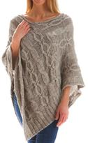 Evergreen Cable Knit Poncho
