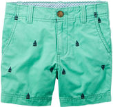 Carter's Teal Print Twill Shorts - Toddler Boys 2t-5t