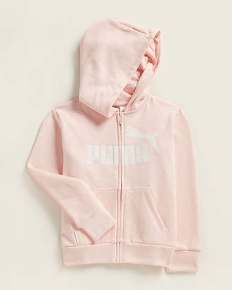 Puma Girls 4-6x) NO 1 Glitter Logo Full-Zip Fleece Hoodie