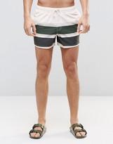 Asos Swim Shorts With Stripe In Short Length