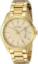 Lucien Piccard Men's 98660-YG-77 Excalibur Textured Dial Gold Ion-Plated Stainless Steel Watch