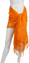 Scarves Italian Linen/Viscose w/ Hand Knotted Fringe Sarong and Scarf
