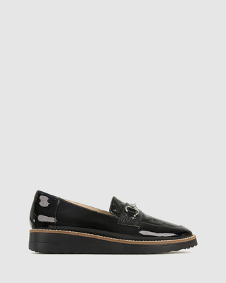 Airflex Women's Black Brogues & Loafers - Desire Leather Loafers - Size One Size, 7 at The Iconic