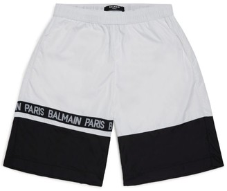 Balmain Kids Colour-Block Swim Shorts (8-16 years)