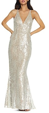 Dress the Population Sharon Sequined Lace Gown
