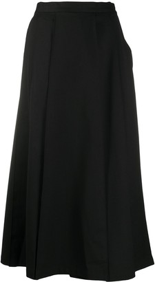 Y-3 Asymmetric Pleated Skirt Trousers